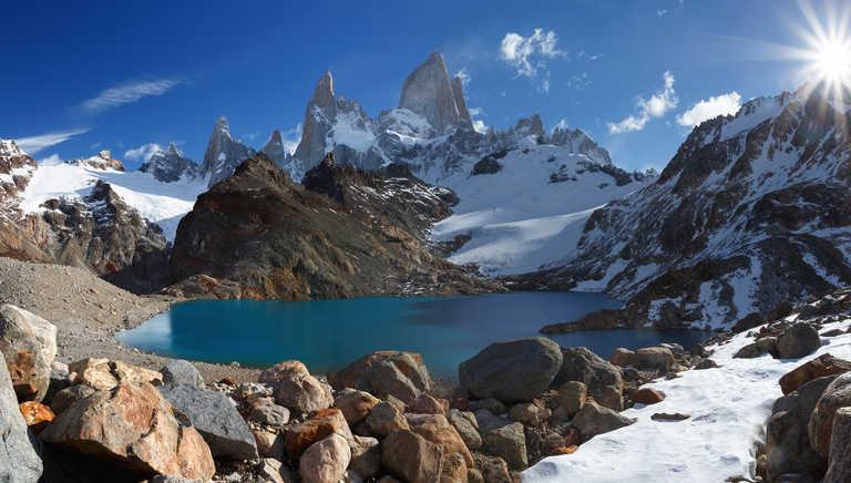 Peaceful lanscape in El Chalten National Park