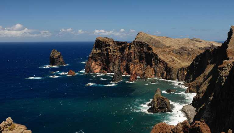 Rugged coastline on Madeira