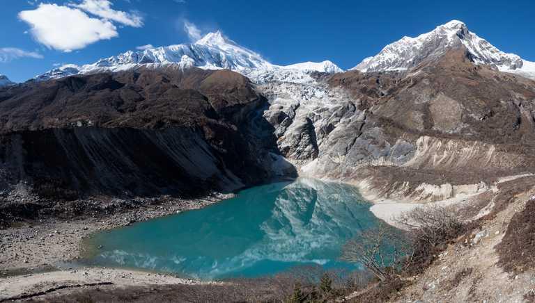 Tilicho lake during the Manaslu Circuit Trek