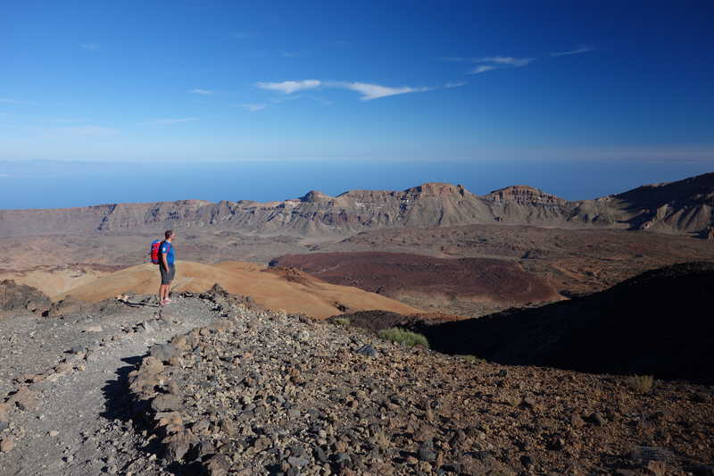 Hikers in the Teïde, Tenerife Island