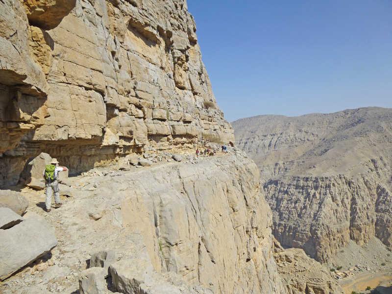 Hiking in Quadah Wadi Musandam