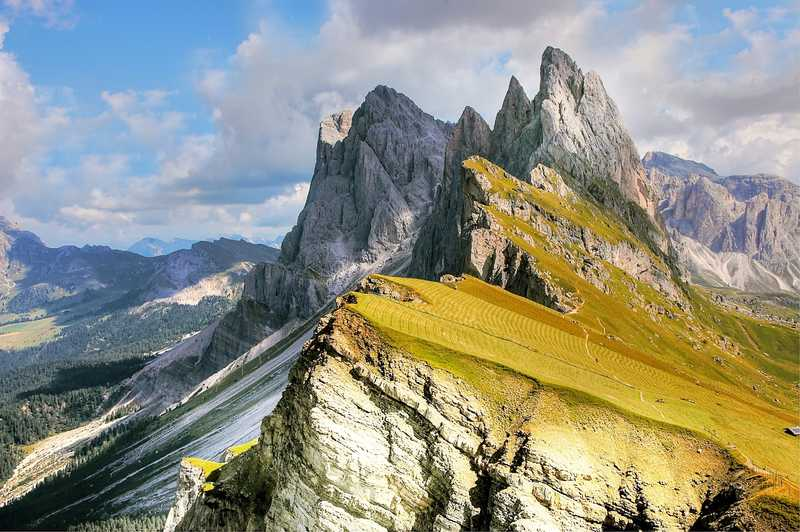 Massive mountains of the Dolomites