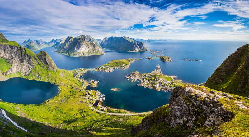 Reinebringen, Lofoten islands, Northern Norway