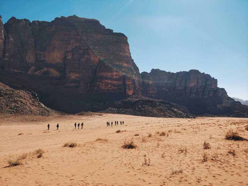 Trekking through the desert in Jordan