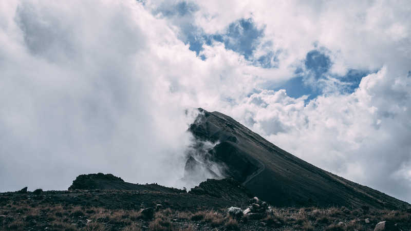 Cloudy ridge on Mt Meru
