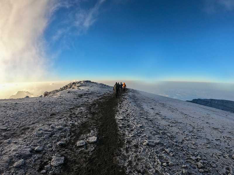 Hikers in Kilimanjaro summit