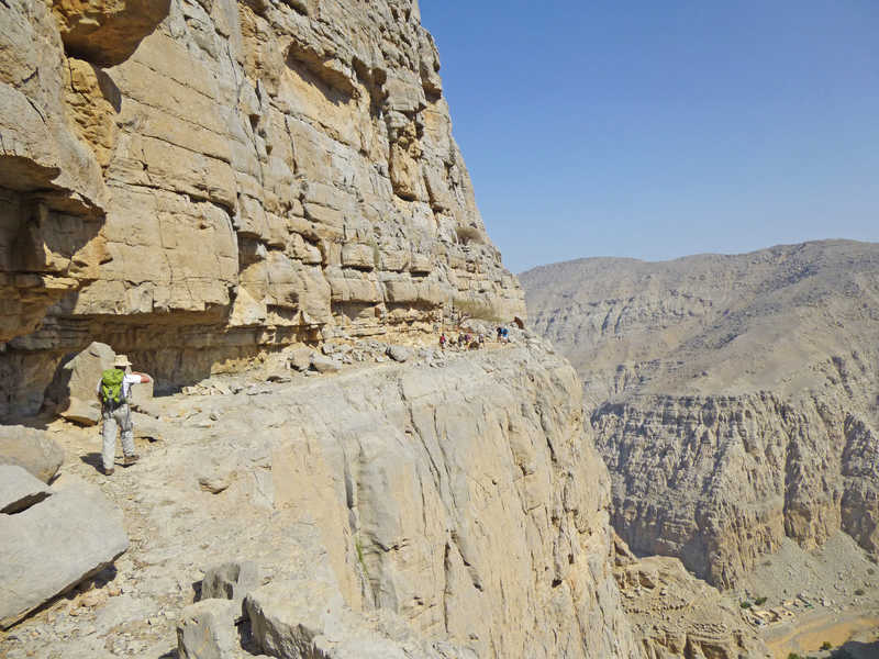Hiking in Quadah Wadi Musandam