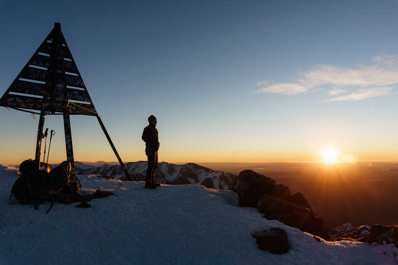 The summit of Mt Toubkal