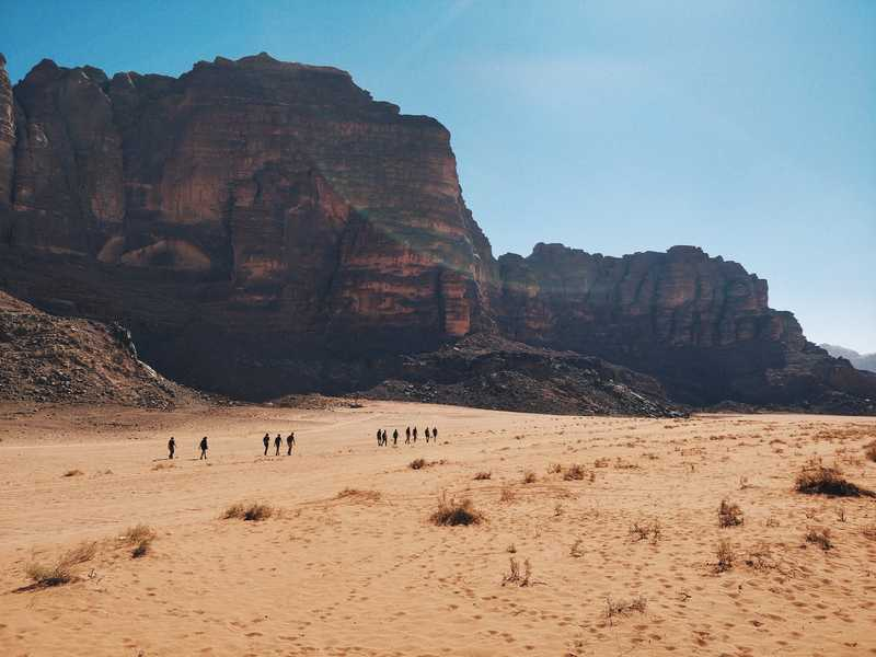Trekking through the desert in Jordan