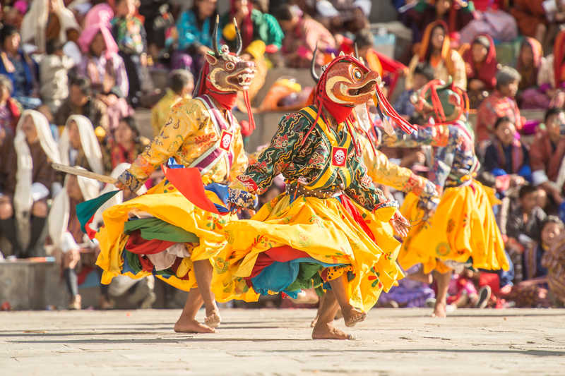 Typical celebrations in Bhutan