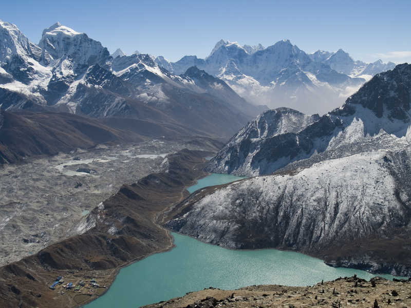 View on the Gokyo lake from Gokyo Ri