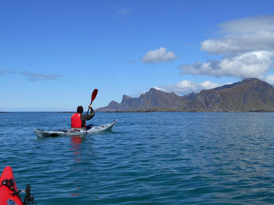 Kayaking in the Lofoten Islands
